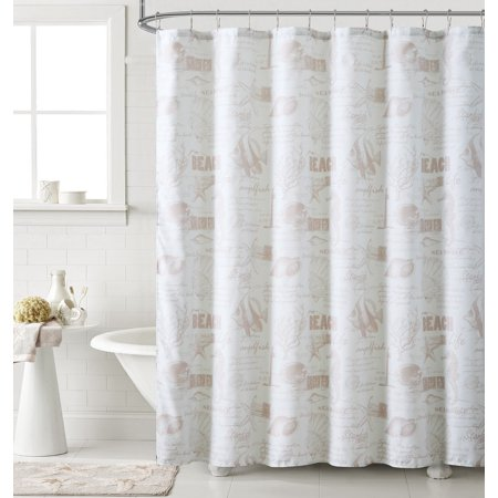72 In Linen - Corrie 70 in. W x 72 in. L Polyester Shower Curtain in Linen