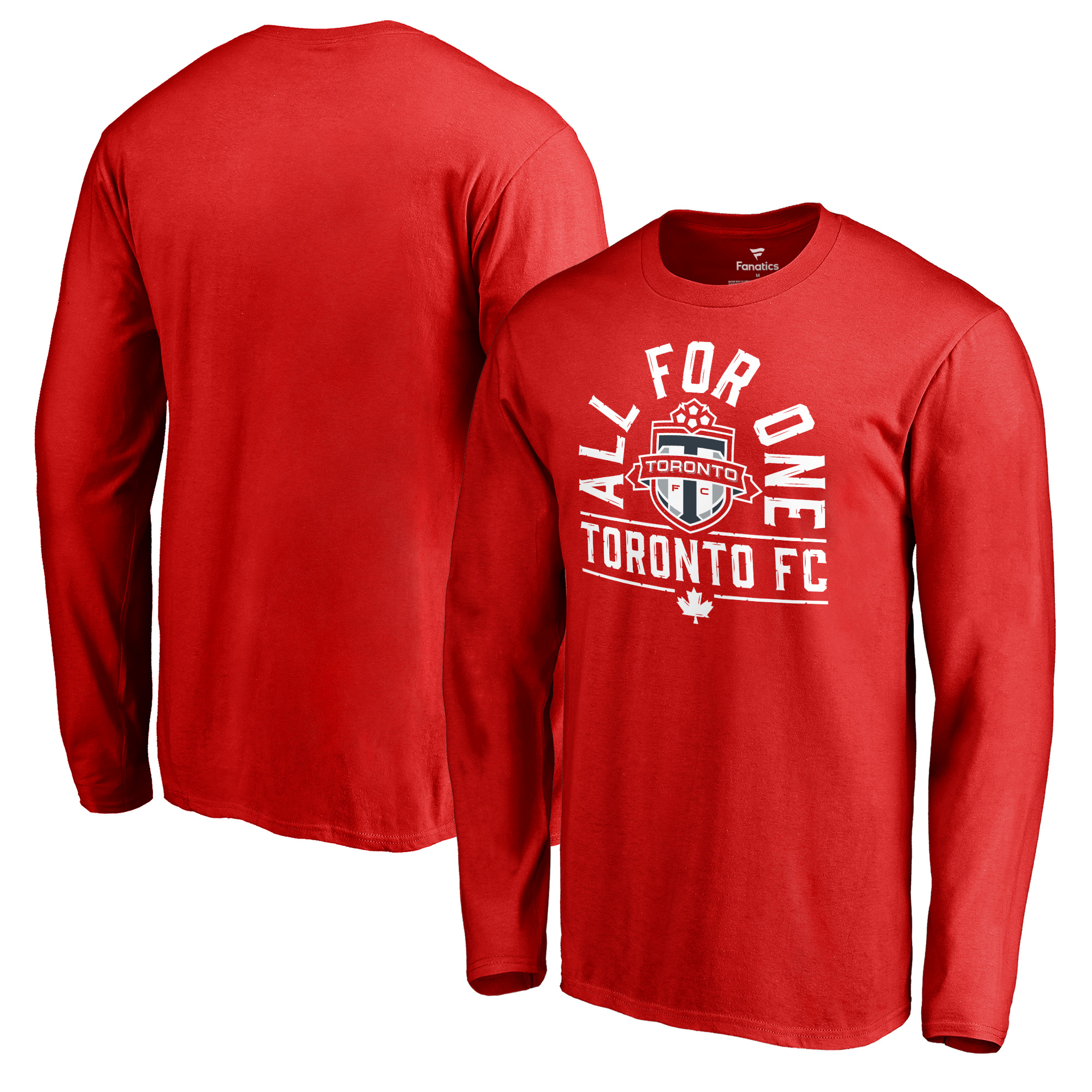 Toronto FC Fanatics Branded All For One Long Sleeve T-Shirt - Red