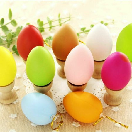 12Pcs DIY Easter Eggs Pack Of Easter Hunt Eggs Assorted Colours Plastic Gift Party DIY -