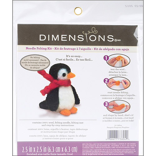 Dimensions Feltworks Little Felted Characters, Penguin
