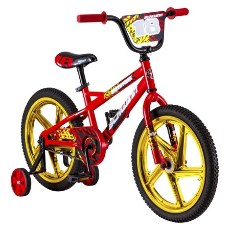 Schwinn Mototrax Boy's Sidewalk Bike, 18-inch mag wheels, ages 5 - 7, Red (Vintage Schwinn Stingray Bike)