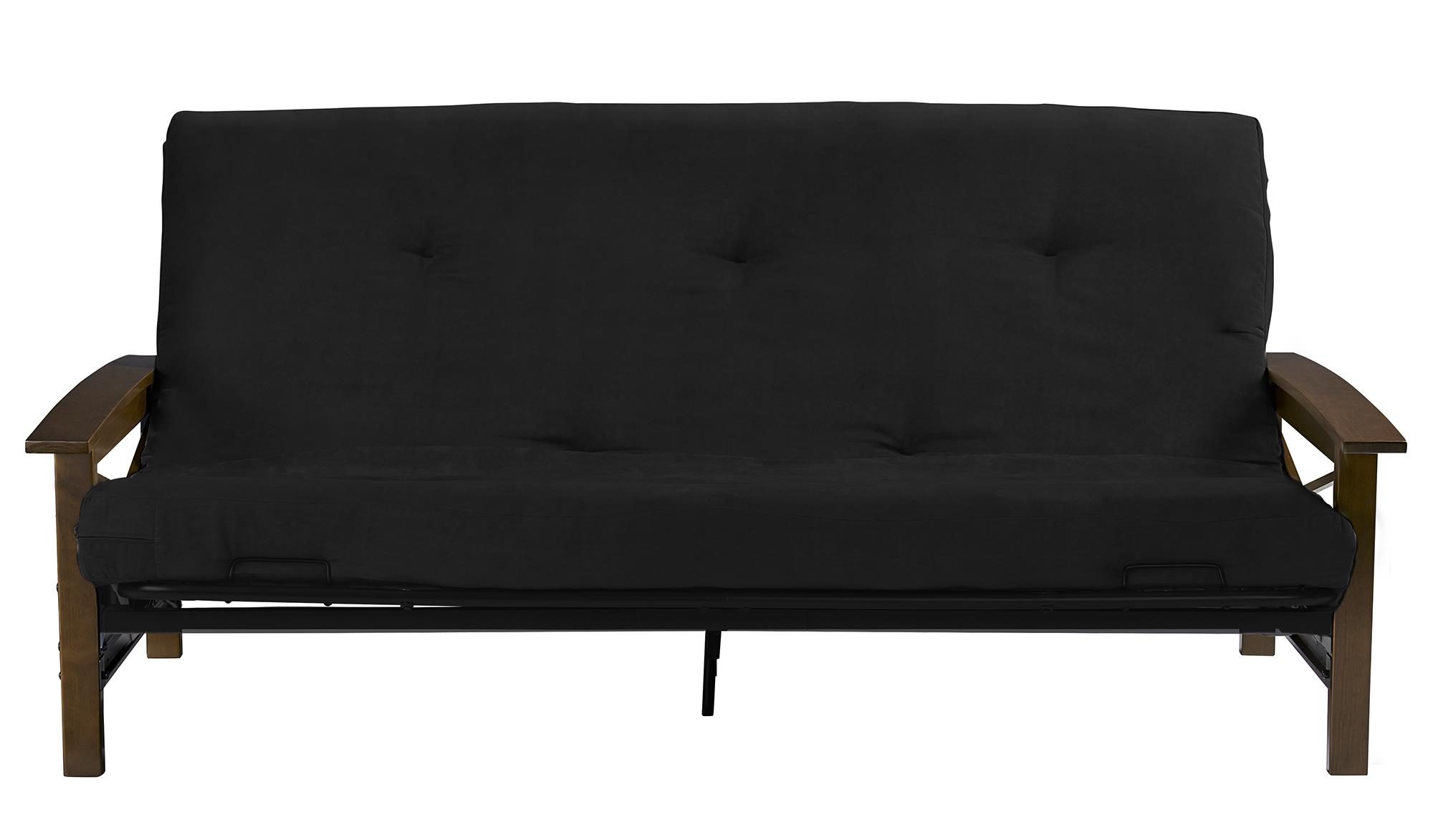 DHP Davis Full Size Wood Arm Futon, Multiple Colors by Dorel Home Products