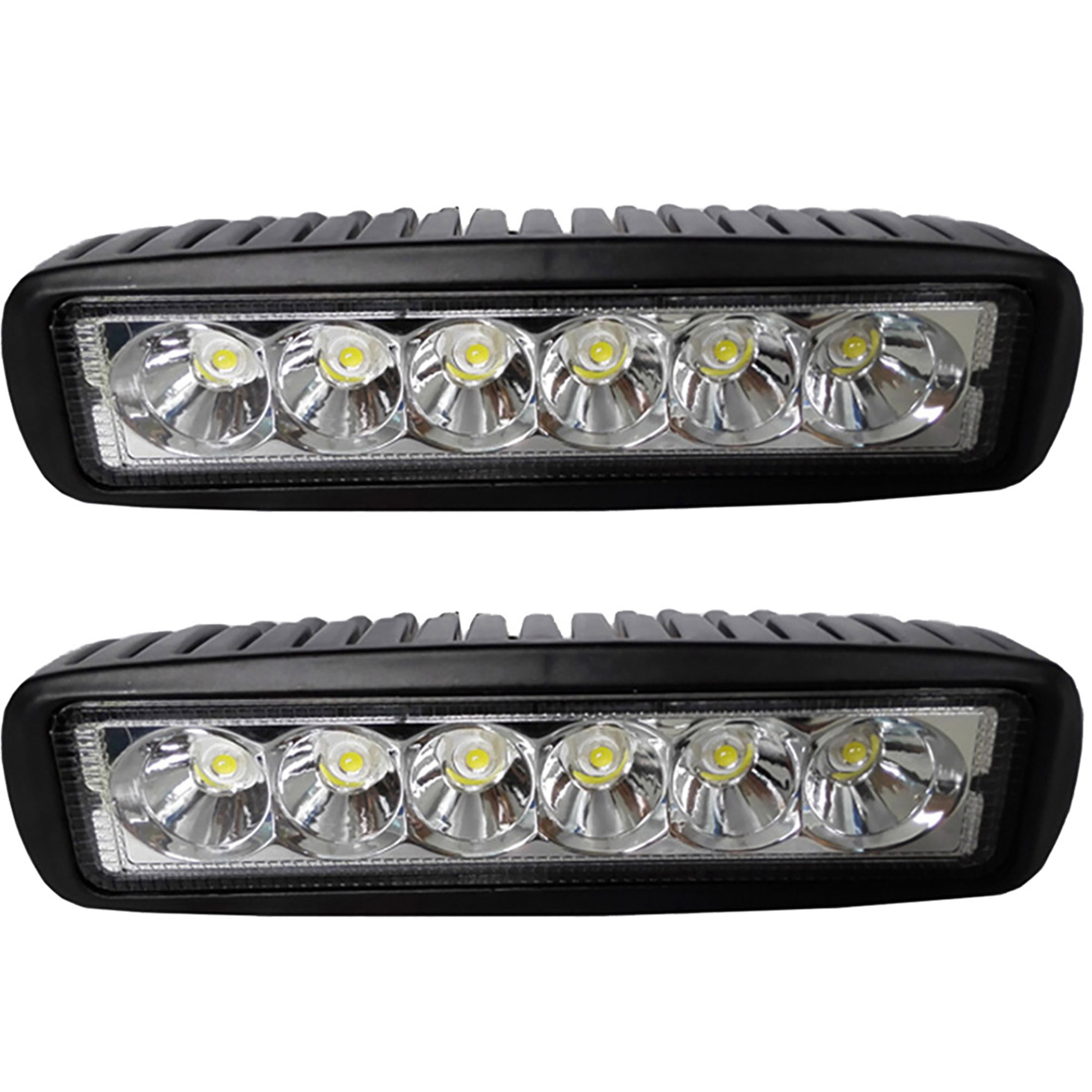 LotFancy Waterproof Driving Lights - 2PCS 18W Spot LED Work Light Bar with Mounting Bracket for Off Road Truck Jeep UTV ATV Cars Marine Boat