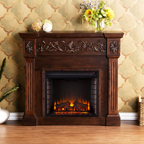 southern enterprises jordan electric fireplace espresso - Electric Fireplaces Clearance