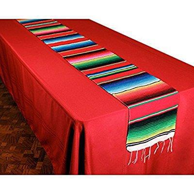 woven serape table runner