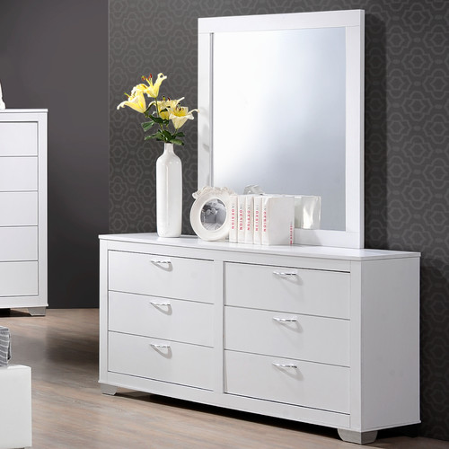 Wildon Home  Brahma 6 Drawer Dresser with Mirror
