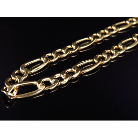 10K Yellow Gold Figaro Style Chain (7mm) -30""