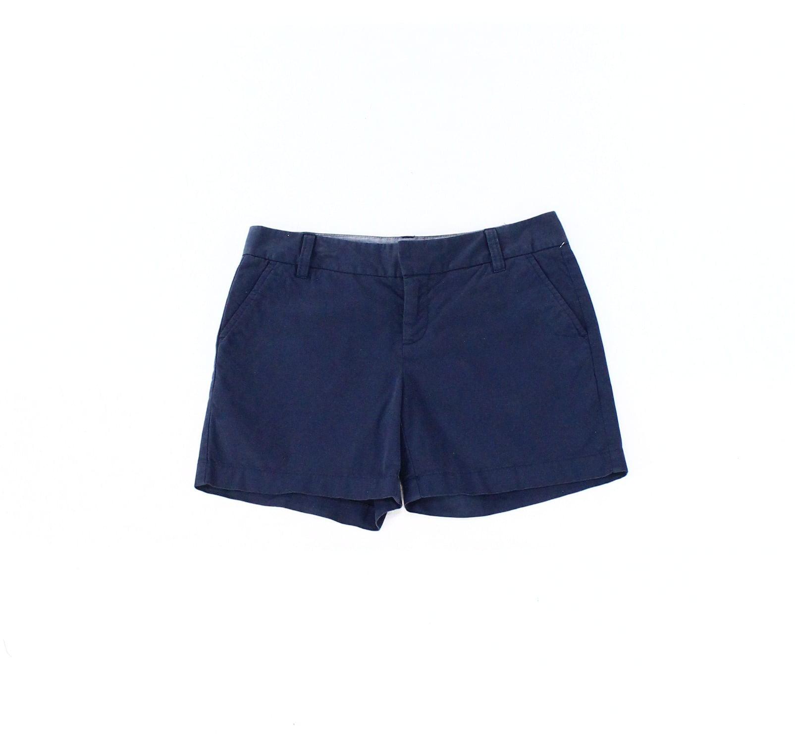 Caslon NEW Blue Womens Size 0 Zipper Fly Slant Pocket Chino Shorts