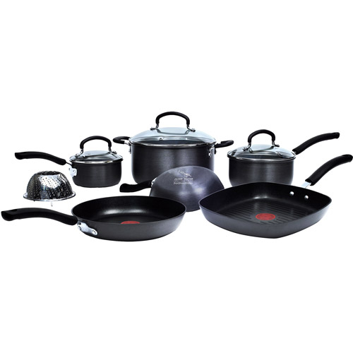 T-Fal Jamie Oliver 10-Piece Hard Anodized Cookware Set