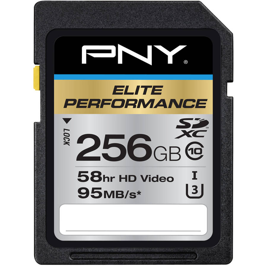 PNY 256GB Elite Performance SDXC 95MB/s Memory Card