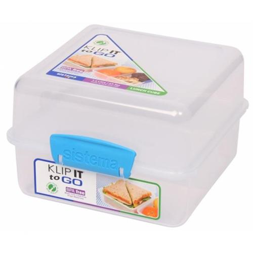 Sistema Us Inc 21731 48 Oz Klip It Lunch Cube To Go Food Container