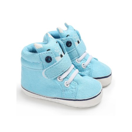 Sweetsmile Baby Boys Girls Autumn Winter Warm Shoes Cotton Fox Head Canvas Soft Sole Anti-slip Sneaker Footwear