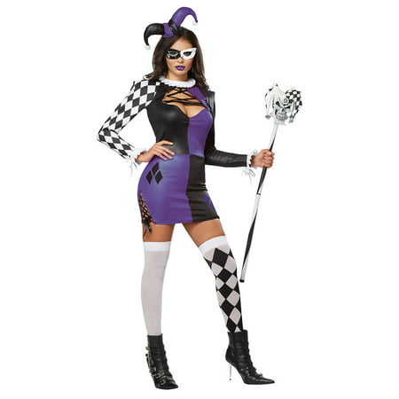 Cheap Jester Costume (Womens Naughty Jester Halloween)