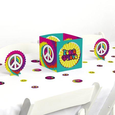 Hippie Centerpieces (60's Hippie - 1960s Groovy Party Centerpiece & Table Decoration)