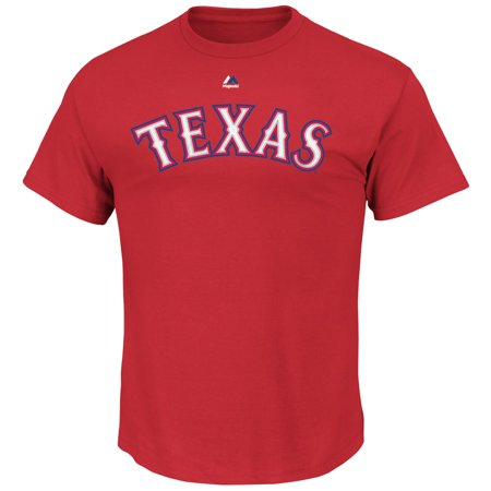Yu Darvish Texas Rangers MLB Majestic Player Red T-Shirt by