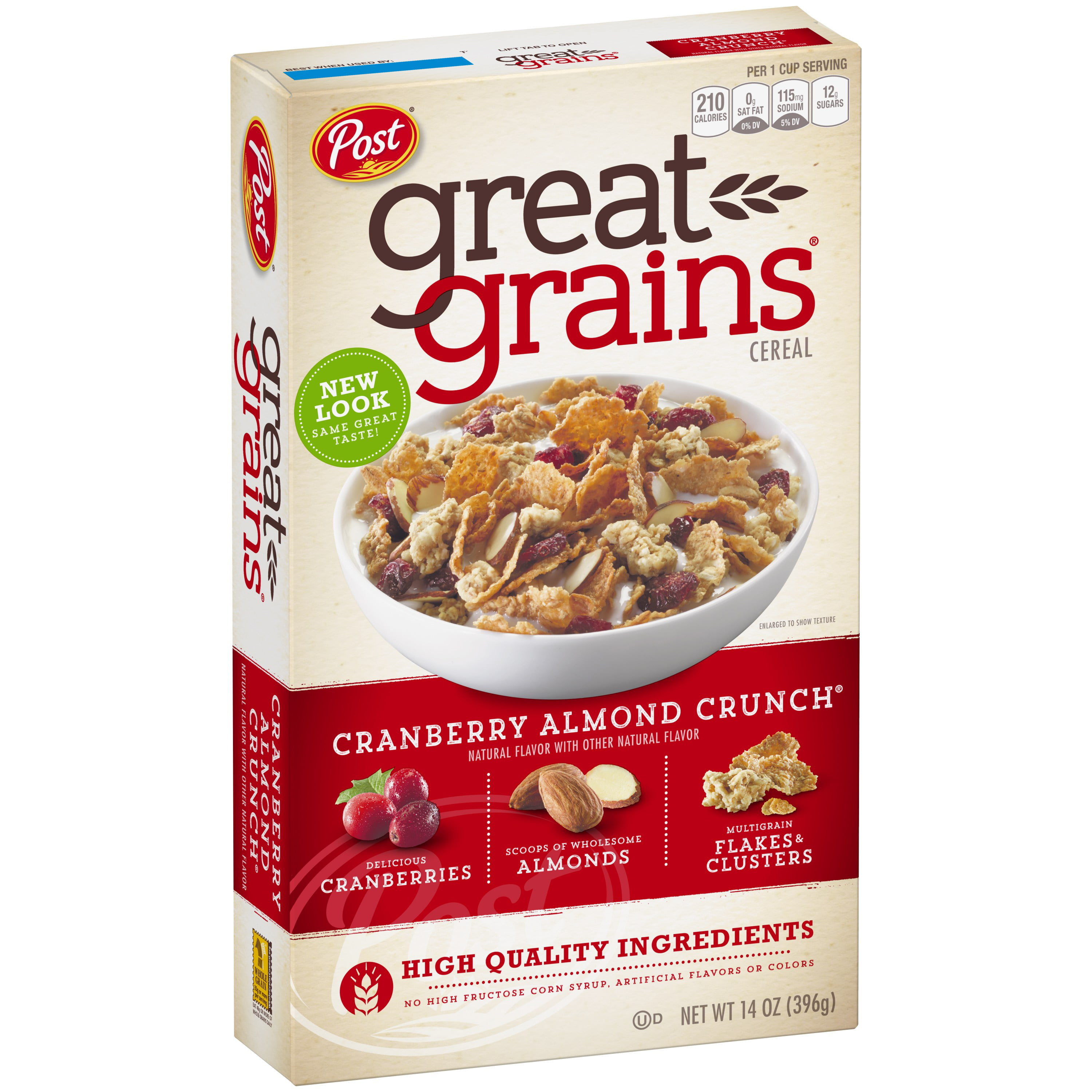 Post Great Grains Whole Grain Cereal, Cranberry Almond