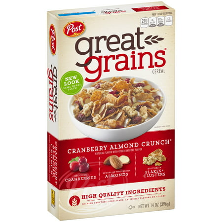 Kashi 7 Whole Grain Flakes ((2 Pack) Post Great Grains Whole Grain Cereal, Cranberry Almond Crunch, 14)