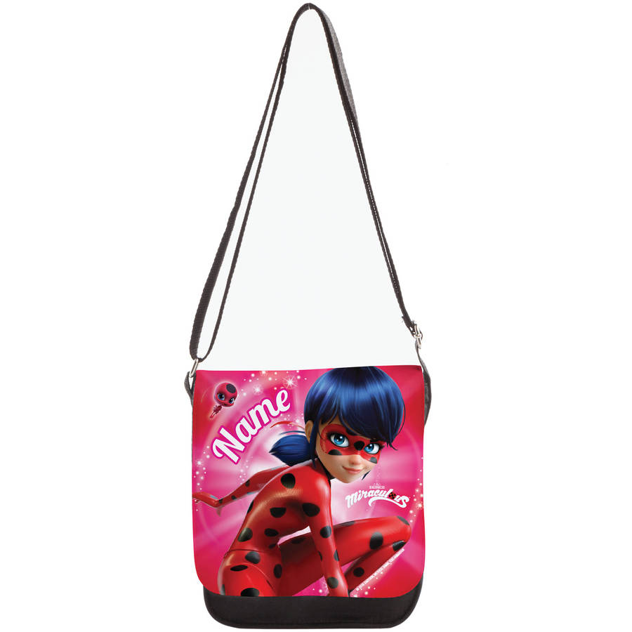 Personalized Miraculous Ladybug and Tikki Purse, Black