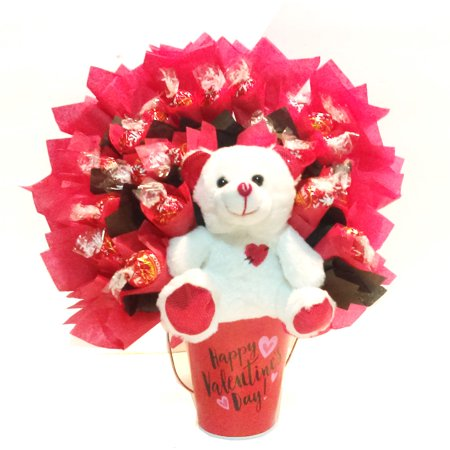 Lindt Lindor Valentine's Truffle Bouquet - Pizza Bouquet