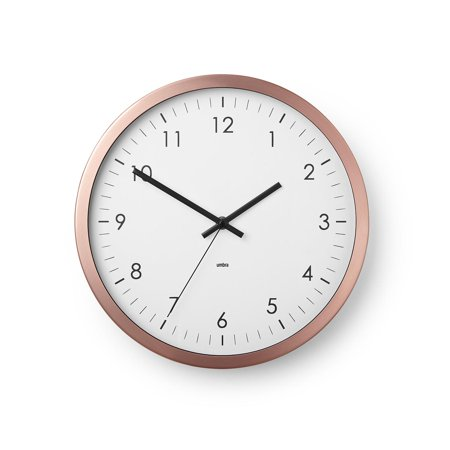 Wall Clock – 12-Inch with Metal Rim - Home, Office, School, Hospital - Silent