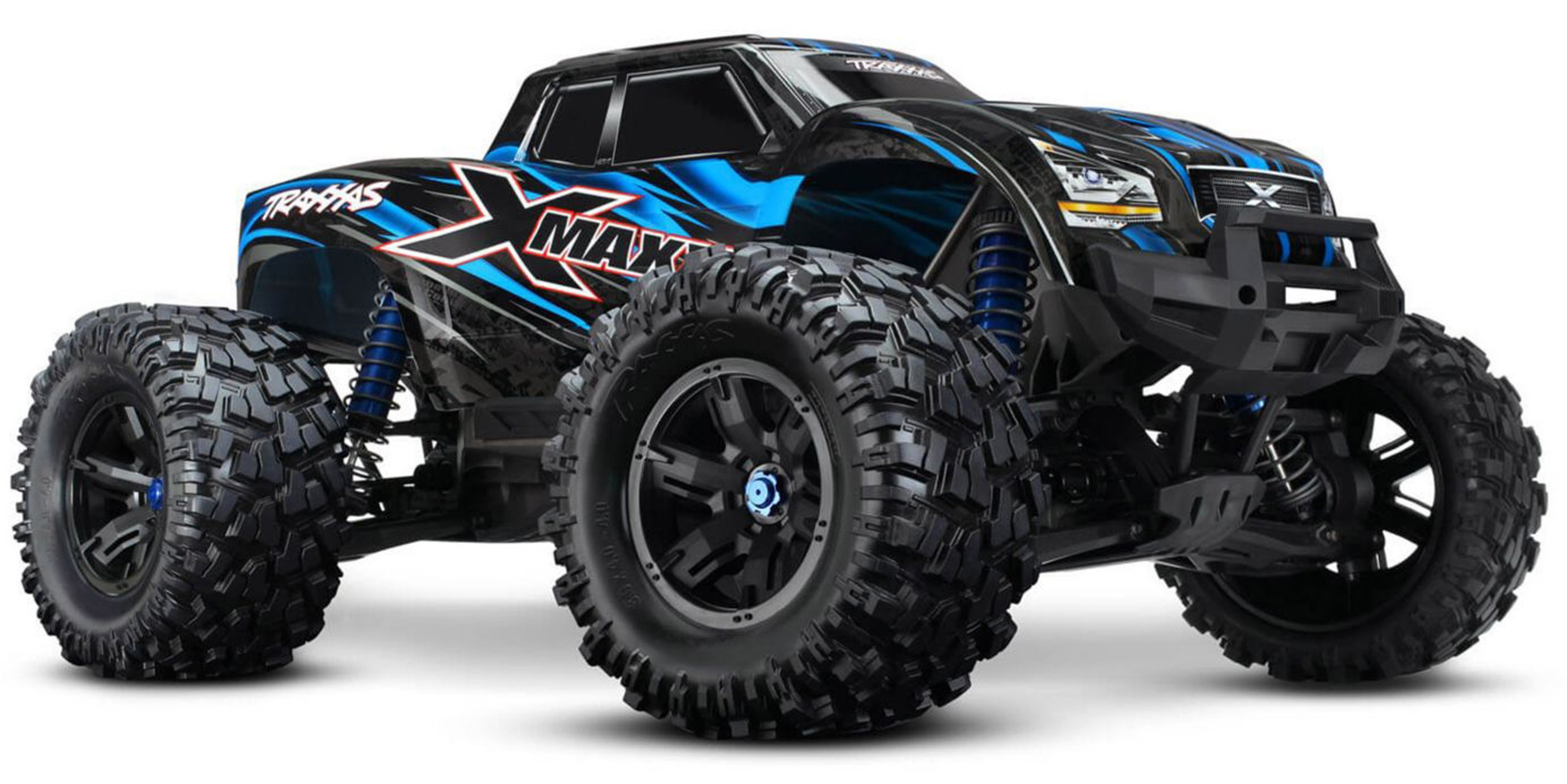Traxxas 770864T2 1:6 X-Maxx 4WD Truck RTR with TSM, TQi 2.4GHz, VXL-8S, Blue by TRAXXAS