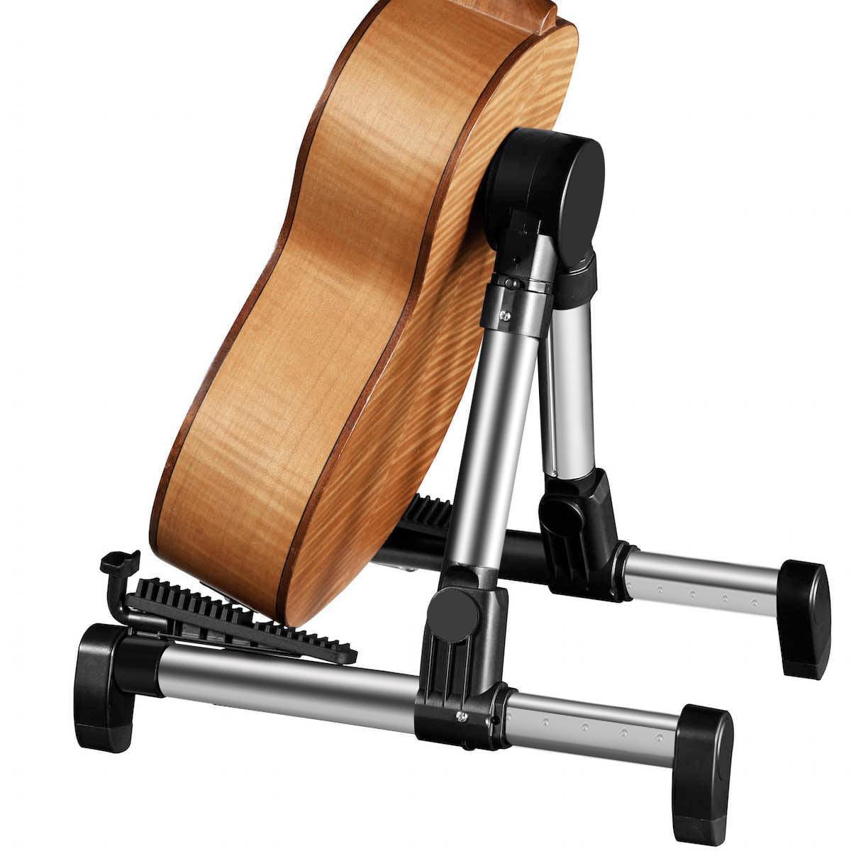 Folding Ukulele Violin Bass Guitar Stand A Frame Floor Holder Rack N A0E6 H I8N8
