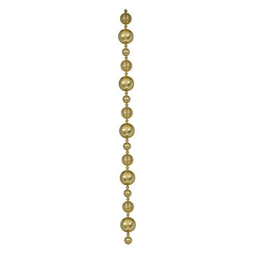 Vickerman 9 ft. Gold Assorted Large Ball Garland