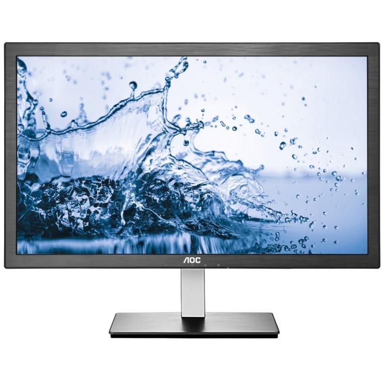 "Refurbished 24"" AOC HDMI/VGA Slim LED IPS LCD Monitor Full HD 1080p"