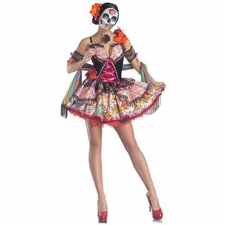 Day Of The Dead Adult Halloween Costume (Halloween Costume Diy Adults)