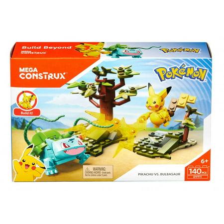 Mega Construx Pokemon Pikachu Vs Bulbasaur Battle Pack Walmart