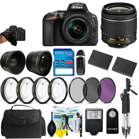 Nikon D5600 DSLR Digital Camera + Nikon DX VR AF-P Nikkor 18-55mm Lens + Pixi Advanced Bundle Kit