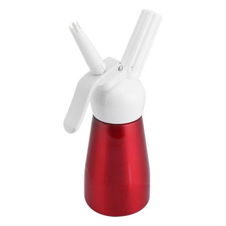 HERCHR 250mL Portable Red Aluminum Whipped Dessert Cream Butter Dispenser Whipper Foam Maker, Cream Whipper, Cream Foam Maker