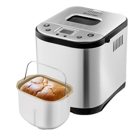 Costway Automatic Bread Maker Stainless Steel Programmable 2LB Bread Machine Silver New ()