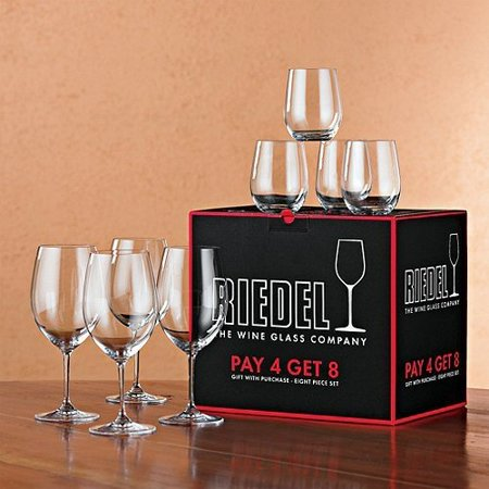 Riedel 8-Piece Vinum Bordeaux and O Viognier Glassware - Riedel Vinum Water Set