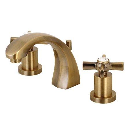 "Kingston Brass KS4983ZX Millennium 8"" Widespread Bathroom Faucet  Antique Brass - image 1 of 1"