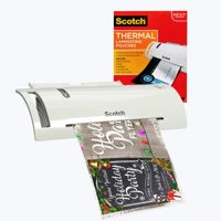 Scotch TL902 Thermal Laminator + 52 Letter-Size Sheet Pouches