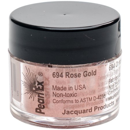 Jacquard Pearl Ex Powdered Pigment 3g-Rose Gold (Gold Pigment)