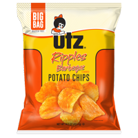 Utz Potato Chips, Ripples Barbeque 14.5 Oz.