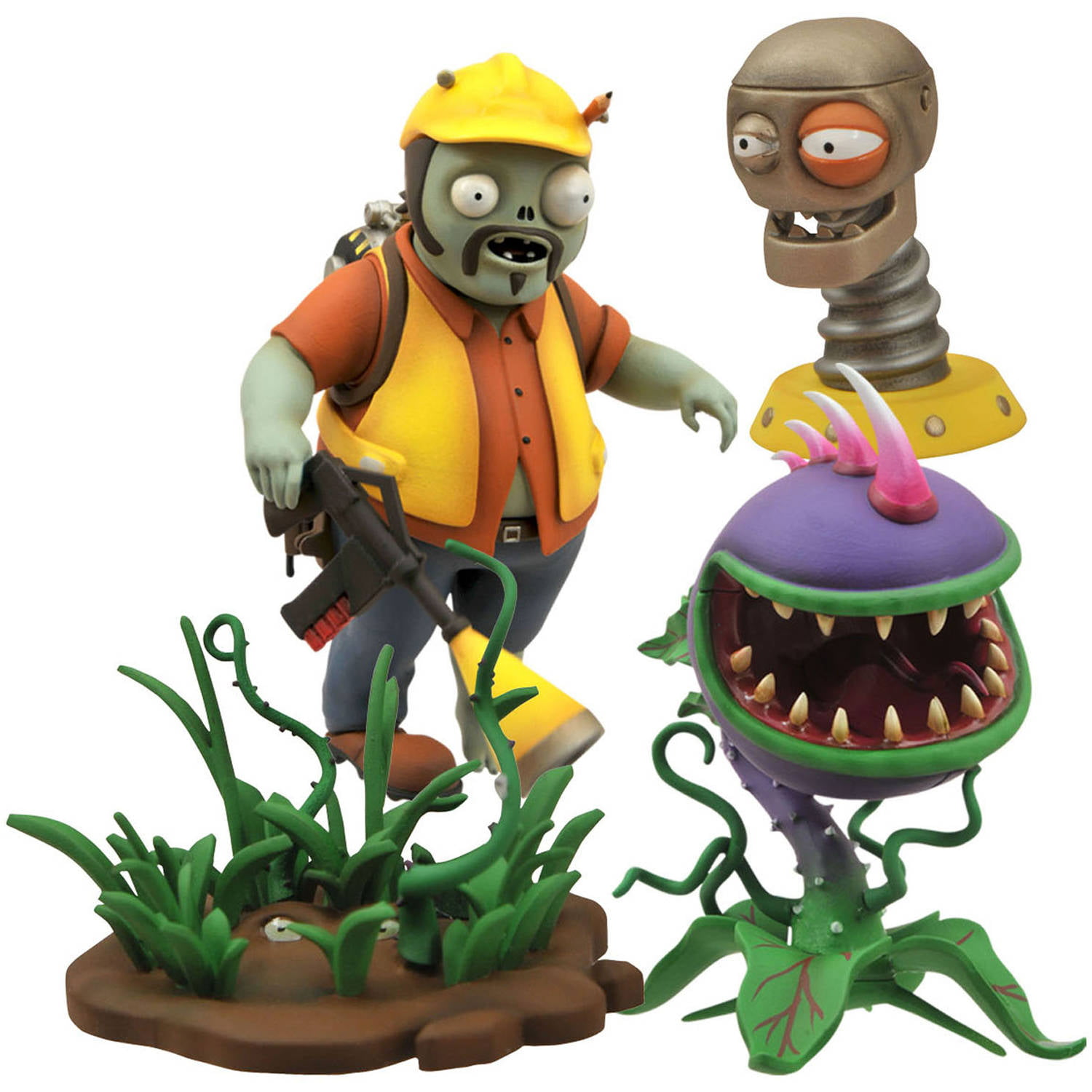 Fish tank decorations zombie - Diamond Select Toys Plants Vs Zombies Select Engineer Zombie Action Figure Walmart Com
