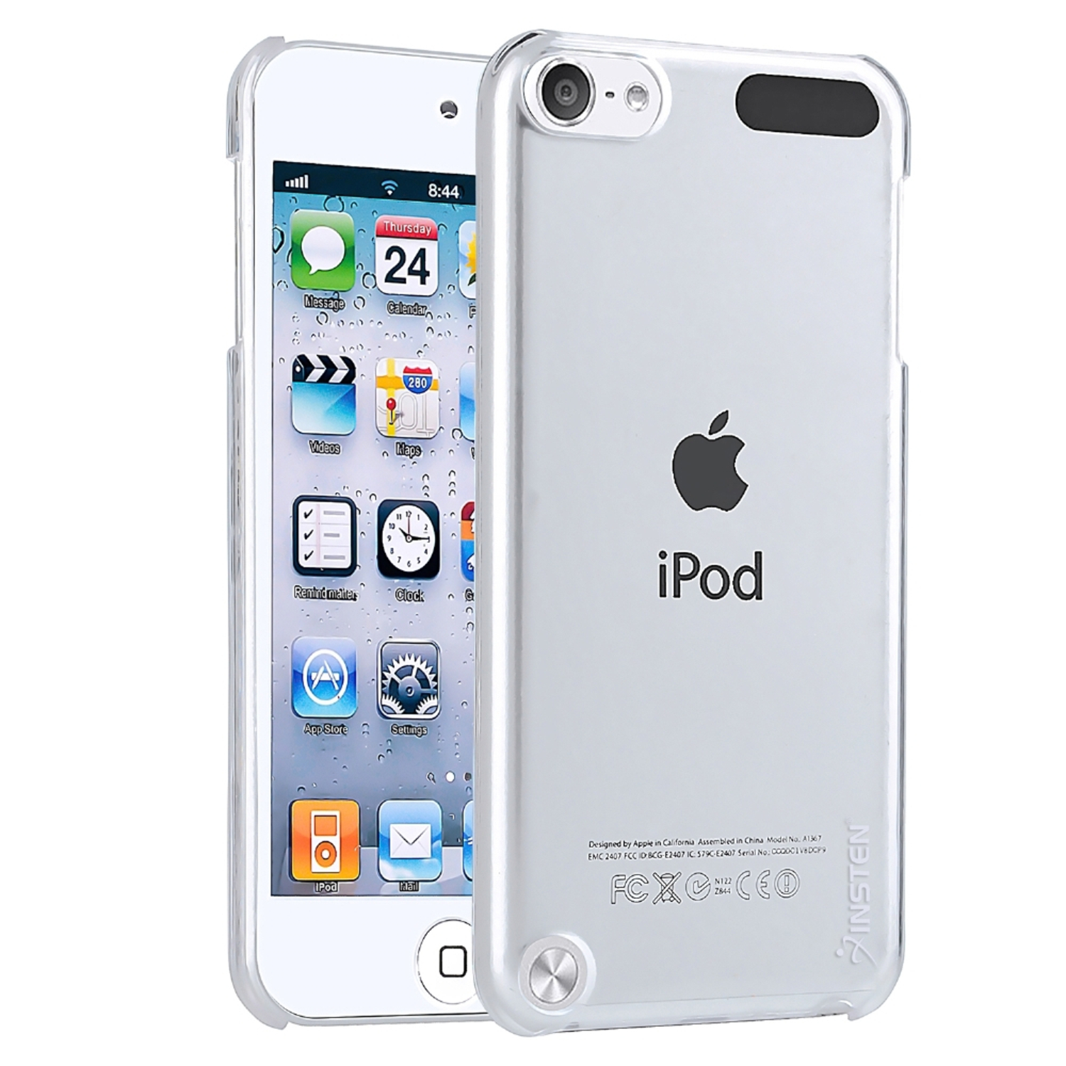 Insten Snap-on Crystal Case For Apple iPod touch 6 6th 5 5th Gen, Clear Rear