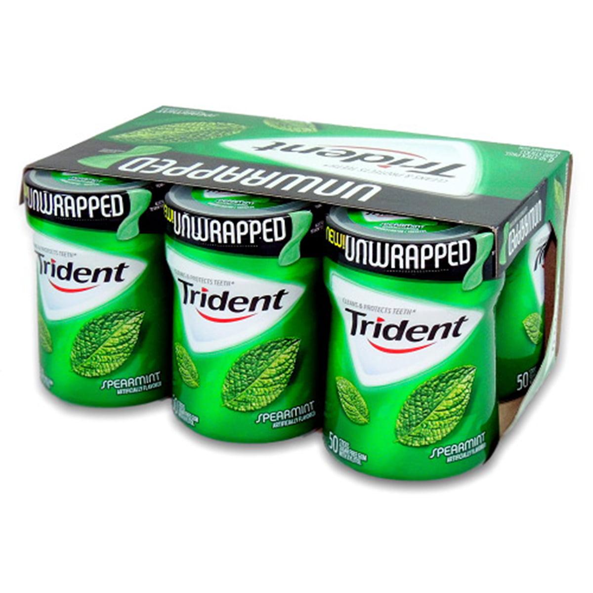 Trident Unwrapped Sugar Free Gum (Spearmint, 50-Piece, 6-Pack)