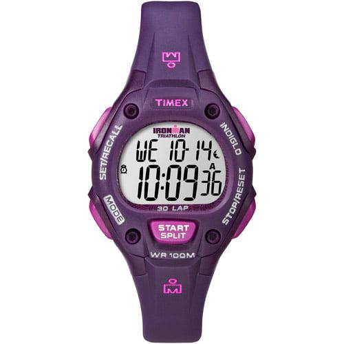 Timex Women's T5K756 Purple Resin Quartz Sport Watch