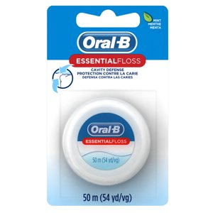 Oral-B EssentialFloss Cavity Defense Dental Floss, Mint, 50 M