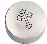 "Trinket Box-3-Tipped Cross-Pewter (2"" x 2"")"