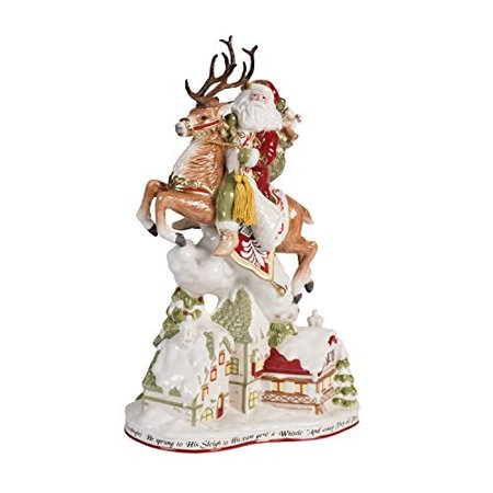 Fitz Floyd Collectibles (fitz and floyd damask holiday up on the housetop santa figurine)