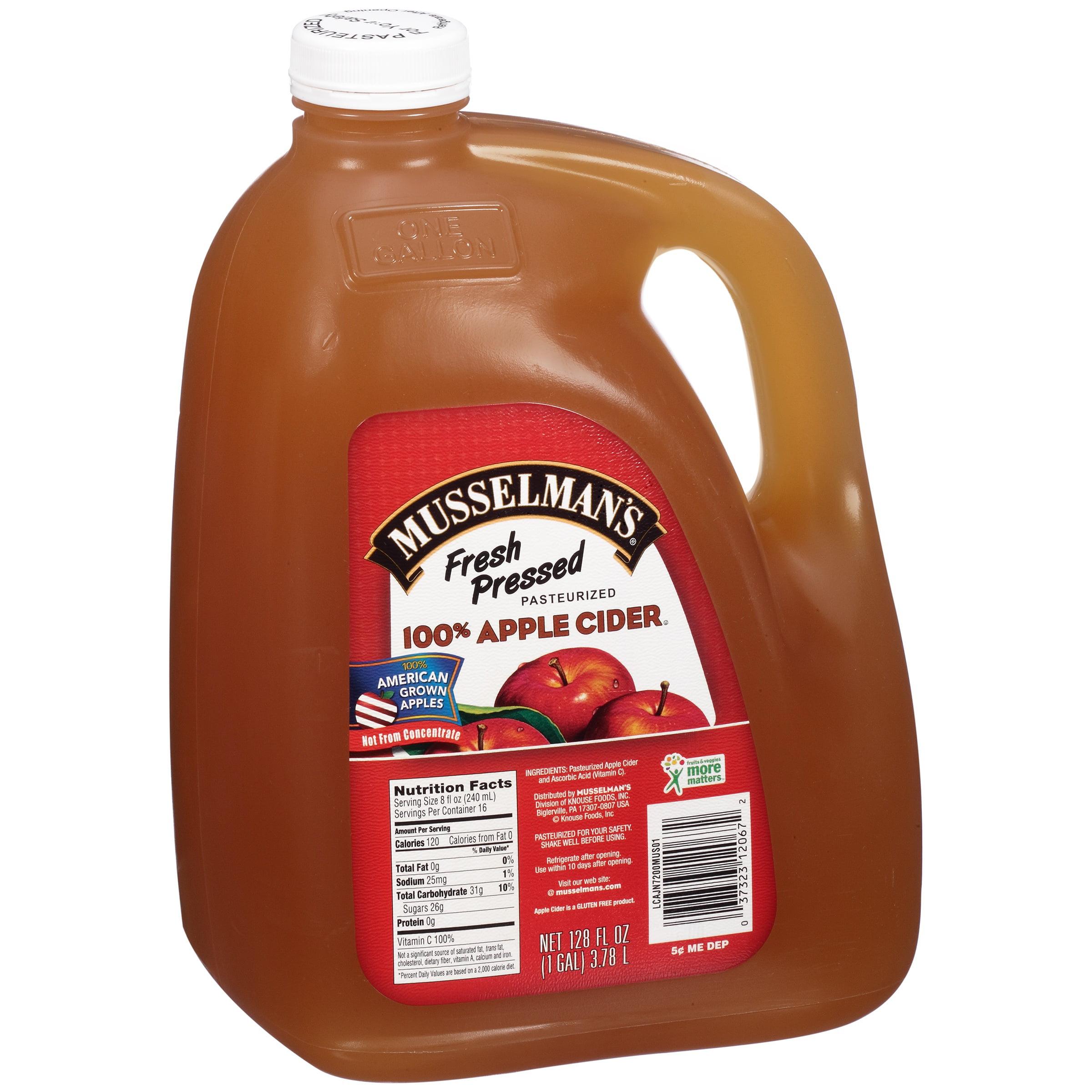 Musselman's, Division Of Knouse Foods, Inc. Musselman's � 100% Apple Cider 128 Fl. Oz. Jug