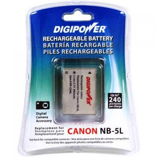 BATTERY RECHARGEABLE LI-ION-CANON NB-5L REPLACEMENT