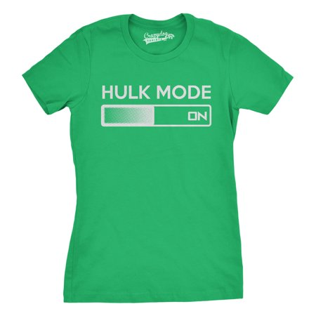 Women's Hulk Mode On T Shirt Funny Comic Book Superhero Tee For Women