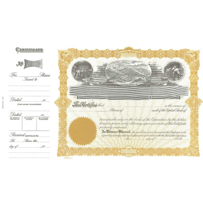 Goes 91 Stock Certificate Form - Pack of 25