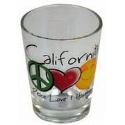 Jenkins California Shotglass- Peace/love/happiness (pack Of 96)